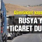 Gümrüklerde Türk mallarının Rusya'ya girişi durduruldu https://t.co/wUu21qJbog https://t.co/uLexnPZrHO