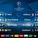 All the #UCL half-time scores... Most exciting match? (*indicates final scores) https://t.co/NtNT4FCOdd