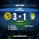 Final del primer tiempo. @ClubAmerica 3-1 @clubleonfc #JuntosPorLaGloria https://t.co/ZW7WpaASwC