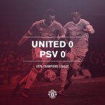 FT: #mufc 0 PSV Eindhoven 0. United must wait to qualify after a frustrating @ChampionsLeague stalemate. https://t.co/03fi85Kk5H
