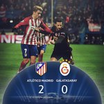 MAÇ SONUCU | Atletico Madrid 2-0 Galatasaray https://t.co/A3qedv5coi