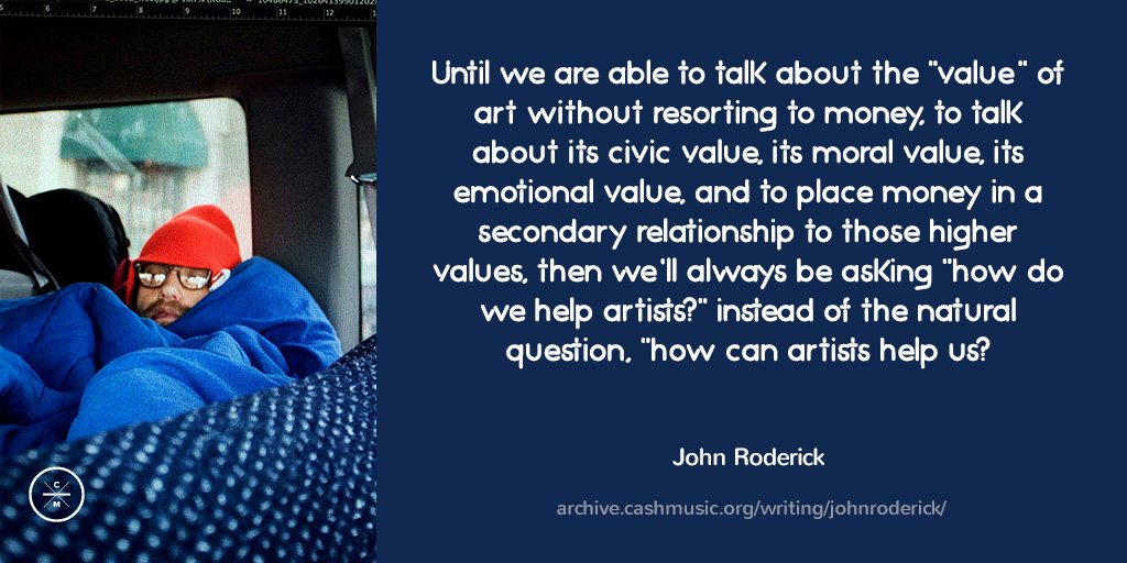 Musician @johnroderick on the inherent and important value that art brings to our world https://t.co/W7z4UMWVxR https://t.co/UduPzY4ack