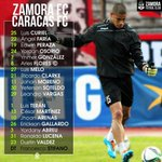 #Primera | Esta es la alineación de #ZamoraFC para enfrentar a #CaracasFC (7:30 pm). #VamosZamora https://t.co/b0S2fxl0hR