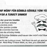 "#HappyThanksgiving! Enjoy a special ""Morf Morf Gobble Gobble Yüm Yüm"" recipe from Swedish Chef and #TheMuppets! https://t.co/HbeedrYVVj"