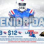.@LATechFB SENIOR DAY is tomorrow! Support these 25 young men!  Buy Tix: https://t.co/rWlwaxVEPU PROMO: SENIORS https://t.co/u1zHaXyJZD