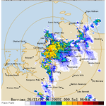 50 mm of rain reported in 30 minutes at Pinelands from thunderstorm. #DarwinNT https://t.co/eSavCcNzQm