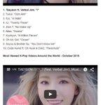 MV เพลง I ของแทยอน เป็น MV K-Pop ที่มีผู้ชมมากที่สุดในอเมริกาและทั่วโลก ประจำเดือนต.ค. 2015 https://t.co/YSeNpTudpB https://t.co/uX11XF3uYH