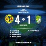 Finaliza el partido en la cancha del @EstadioAzteca nuestras Águilas derrotan 4-1 a @clubleonfc #JuntosPorLaGloria https://t.co/eG6R51LTpQ