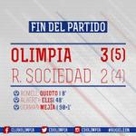 ¡Finalizó el partido! Olimpia gana 3-2 y estamos en semifinales. El camino a la 30 sigue, ¡Vamos Olimpia! https://t.co/kVneXmkClI
