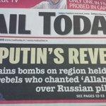 Russian President Putin rains bombs on Turk rebel strongholds. Had chanted Allah Ho Akbar over Russian Pilots body https://t.co/bpnXxeMt6u