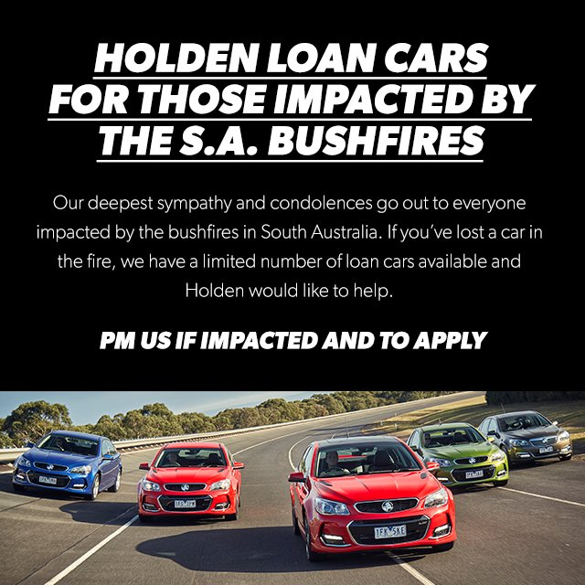 If you have lost a car in the SA bush fires, we have loan cars available and would like to help. DM us for details. https://t.co/KMG9xPdqw6