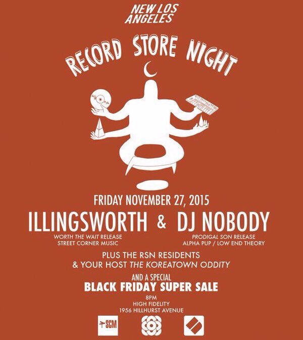 Black Friday/Thanksgiving jam with @djnobody @ILLingsworth & the @newlos13 fam at @HighFidelityLA