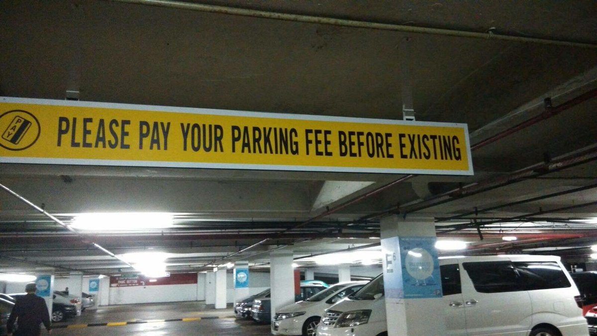 They are very serious about parking fee payment here. https://t.co/Sgbp0fc1Cn