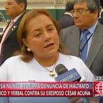 [VIDEO] Rosa Núñez: César Acuña me ha humillado, hasta me ha escupido ► https://t.co/jiAKxlkyOW https://t.co/mPpdLhe23y