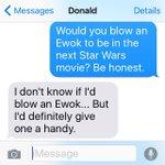 .@donald_faison really loves Star Wars. https://t.co/oruKUuwE0Z