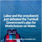 WorkChoices on Water defeated in the Senate. Great news for the Australian shipping industry and Australian jobs. https://t.co/aHFm0mX9yU