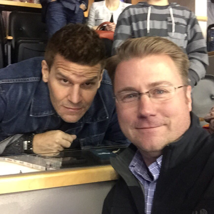 Thanks @David_Boreanaz of @BONESonFOX for being a good sport after the @Avalanche game. Nice guy & huge hockey fan. https://t.co/zWmQWLx9yK