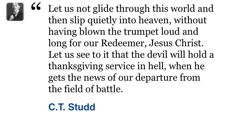 What an incredible quote from @CTStudd  Praying that this would be true of myself, my team & my students! https://t.co/srP7NjnzCw