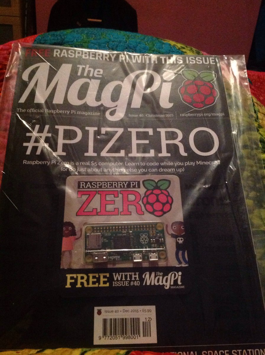 So it's no wonder that @TheMagP1 are ecstatic with this month's issue - it comes with a $5 cover-mounted computer! https://t.co/iMCa9TZ9yq