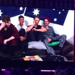 5SOS wear pyjamas and ask for their manginas to be excused in amazing #ARIAs video message https://t.co/0oRzZ4Xjo5 https://t.co/cM3JuoBfzJ