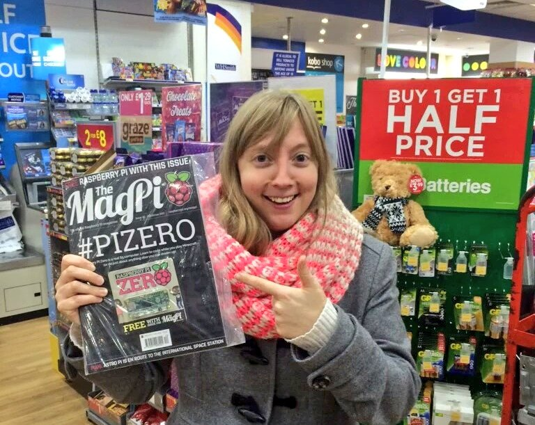 In 1984, I bought a home computer from WH Smith for £129.99, now they come free with magazines! #pizero https://t.co/FzToHFUu9O