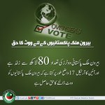 PTI is fighting for the right of overseas Pakistanis to Vote.#GiveVotingRightsToOverseas https://t.co/V8LjqMlokm