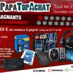 Concours #PetitPapaTopAchat   Cest parti pour le #lot1 à 1569 € !   Pour participer, RT + Follow @TopAchat :-) https://t.co/WS3fgEB6gY