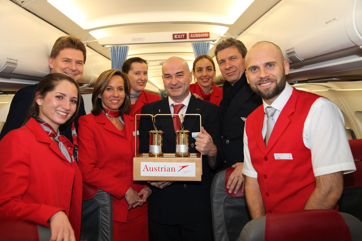 Austrian Airlines brings the ORF Light of Peace to Austria