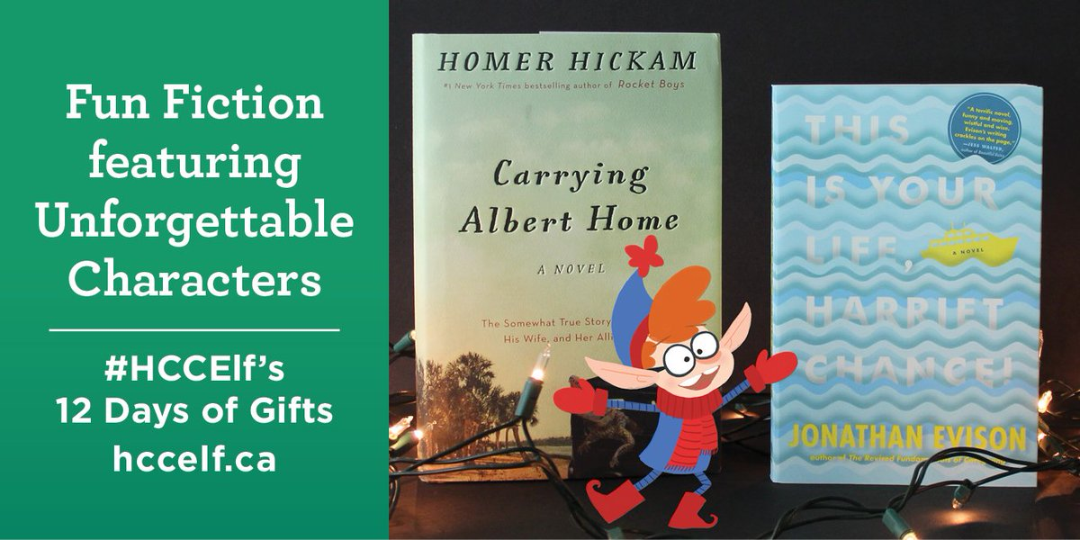 Colin the #HCCElf is giving away new novels by @HomerHickam & @JonathanEvison! RT to enter. https://t.co/Wnuid2TP9c https://t.co/DbuvwgRfVR