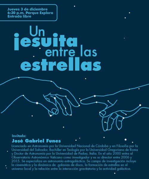En Medellin: un jesuita entre las estrellas. @ismene2 @anacrisrestrepo @sergio_fajardo @ParqueExplora @RinconHector https://t.co/b75WZ2qCXP