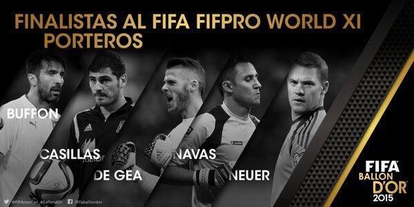 Keylor Navas entre los 5 Porteros nominados al FIFA FIFPro. #GRANDE https://t.co/QmYwbfJCvq