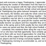Bill Belichick ends todays conf call w/ a Thanksgiving appreciation for the media & high school football coaches. https://t.co/Rd688dh7ov