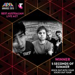 WINNER: 5 Seconds of Summer -  Best Australian Live Act - Rock Out with Your Socks Out Tour #ARIAs #5SOS https://t.co/FuLr4H3zwZ