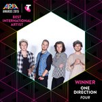 WINNER: One Direction - Best International Artist - Four #ARIAs #onedirection #1D https://t.co/1PDPVJG4qb