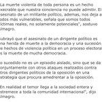 Dijo @Almagro_OEA2015: asesinato del dirigente MUD en Altagracia de Orituco es una herida de muerte de la democracia https://t.co/FwuZRVgCKn