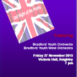 Last Night of The Proms Bradford-style! Victoria Hall Kghly, 28 Nov @ 7 pm with Bradford Youth Wind Orchestra! https://t.co/jt7j5JijWY
