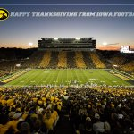 Happy Thanksgiving from our family to yours | #Hawkeyes https://t.co/eLOrC2oQzE