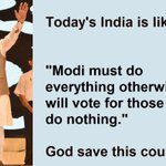 Todays India is like Modi must do everything otherwise we will vote for those who do nothing #NoCricketWithPakistan https://t.co/y3Grk0TTLa