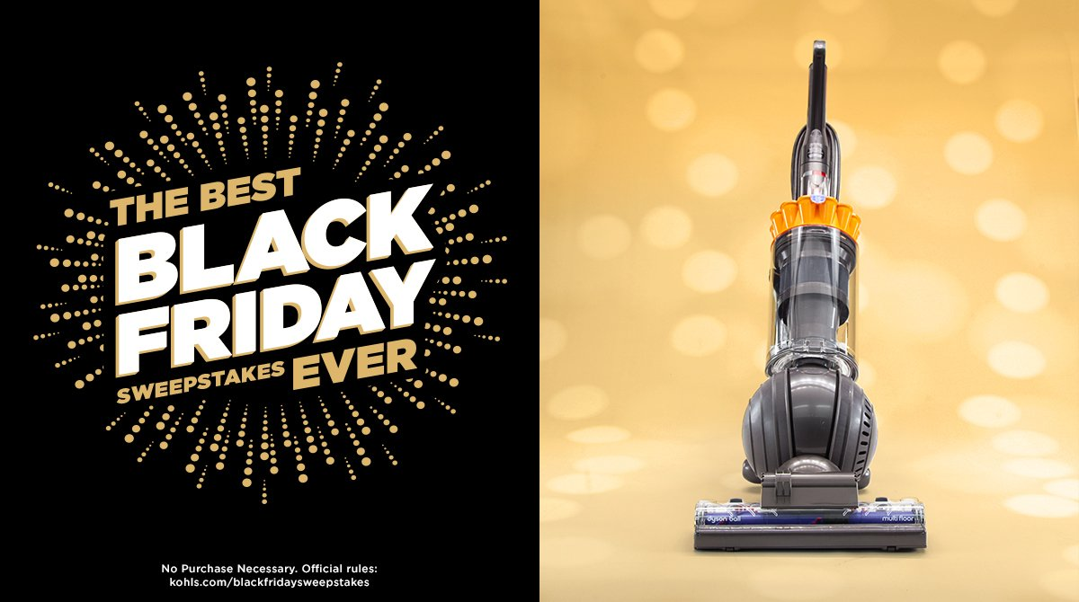 Winning this wouldn't suck. RT for your chance to win a new Dyson vacuum. #KohlsSweepstakes #BlackFriday https://t.co/jgslWoiXky