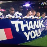 Bordeaux players holding up a banner tonight. ???????????????? https://t.co/AsWP71Xp6o