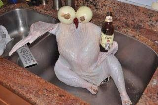 I'm no cook, but can follow directions. Said to let the turkey chill for a few hours in the sink before cooking https://t.co/qQYMbzjLlv