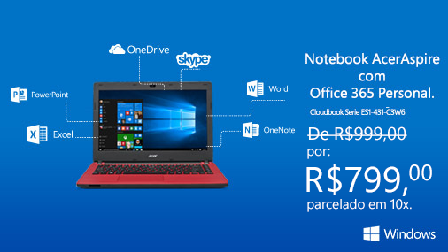#BlackFriday antecipada na Microsoft Store: Acer Aspire com #Windows10! https://t.co/5gGIgIk9r4 #CriandoJuntos https://t.co/vcZD3h64dd