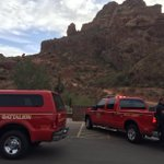 Update: A look at the mountain rescue @PHXFire working at Camelback Mountain. Man in 20s stuck on cliff. #abc15 https://t.co/D27JO54Ug0