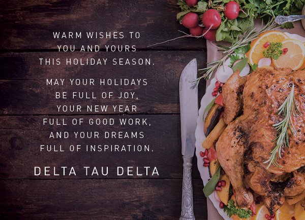 Happy Thanksgiving to Delts wherever dispersed world wide. https://t.co/qrUuYIREoi