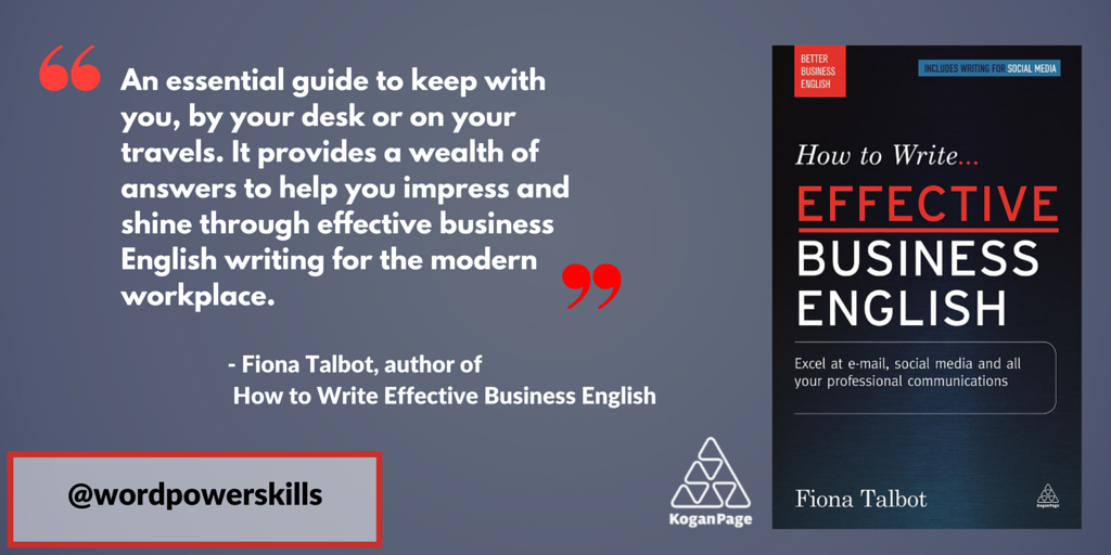 By popular demand, new edition 'How to Write Effective Business English' incl. #socialmedia https://t.co/UO4gS4qZZ4 https://t.co/uLd3MKndJ0
