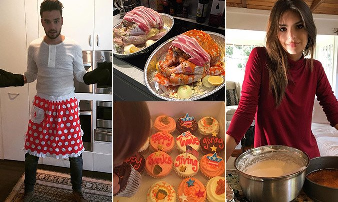 See how the stars are celebrating Thanksgiving: