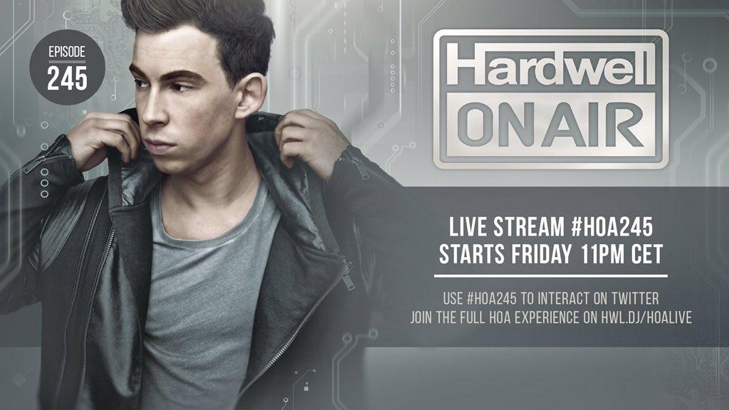Fresh new music in @Hardwellonair tomorrow! #HOA245 https://t.co/PlNBwcM8Gj
