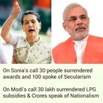 This is the difference. Sonia Ji benefited by her call, India benefited by @narendramodi Ji call. #IntolerantSonia https://t.co/MZP4HzuiBO
