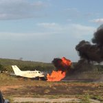 "LilianTintori denuncia: ""La avioneta en la q viajaba se incendió al fallar sospechosamente los frenos al aterrizar""  https://t.co/RZD7WYfE93"