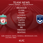 Tonight's confirmed #LFC starting line-up and subs in full on our matchday graphic https://t.co/mblTBbUKHt